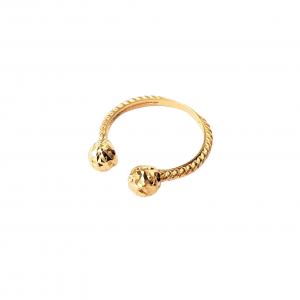 טבעת ציפוי זהב - פתוח כדורים