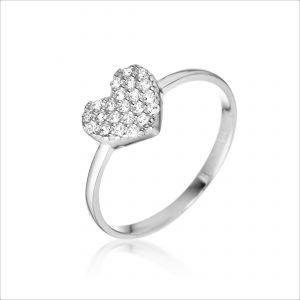 טבעת זהב - לב גדול