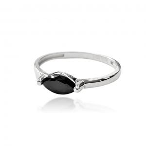 טבעת זהב - אבן שחורה