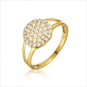 טבעת ציפוי זהב - קמרון