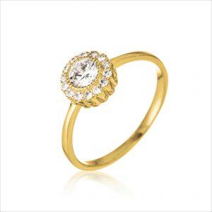 טבעת ציפוי זהב - רביד