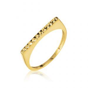 טבעת ציפוי זהב - קודי מנצנץ