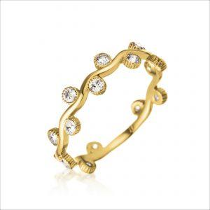 טבעת ציפוי זהב - לואיס
