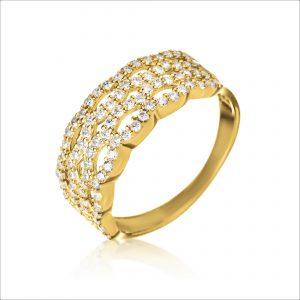 טבעת ציפוי זהב - סיירה