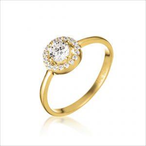 טבעת ציפוי זהב - לאון