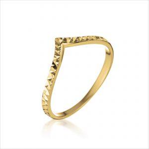 טבעת ציפוי זהב -שנהב