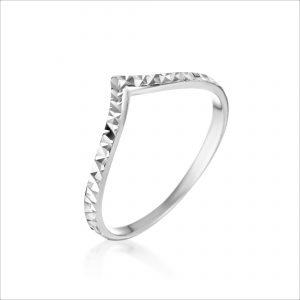 טבעת כסף - שנהב