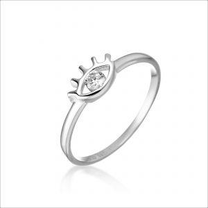 טבעת כסף - עין