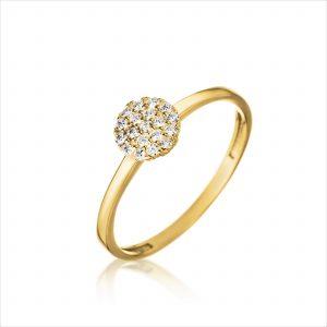 טבעת ציפוי זהב - ויקטוריה