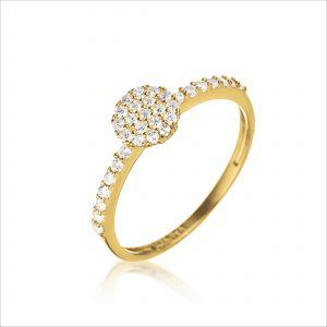 טבעת ציפוי זהב - ויקטוריה מעוטר