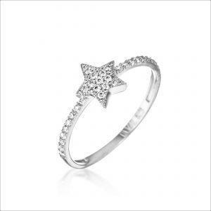 טבעת כסף - כוכב