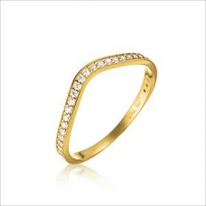 טבעת ציפוי זהב - גל
