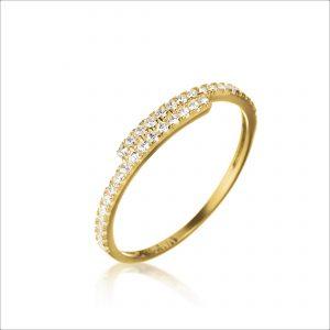 טבעת ציפוי זהב - אורורה