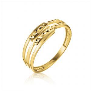 טבעת ציפוי זהב - בוני