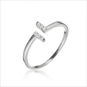 טבעת כסף - פתוח פסים