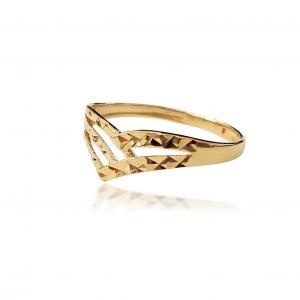 טבעת ציפוי זהב - ליסו